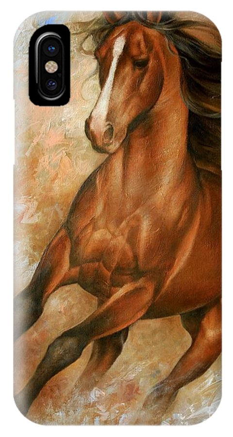 Horse IPhone X Case featuring the painting Horse1 by Arthur Braginsky