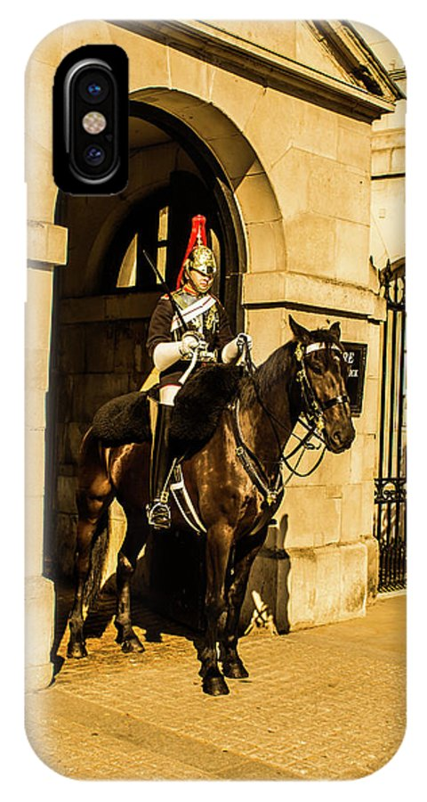Horseguard IPhone X Case featuring the photograph Horseguard by Nigel Dudson
