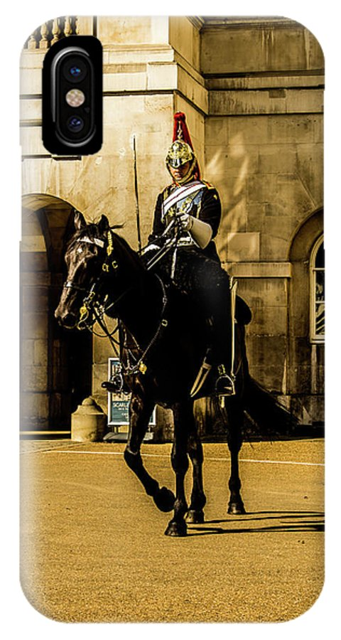 Horseguard IPhone X Case featuring the photograph Horseguards. by Nigel Dudson