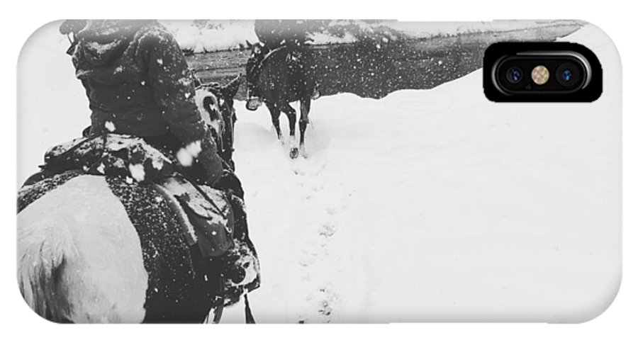 Horses IPhone X Case featuring the photograph Horses by Christina McNee-Geiger