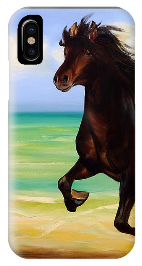 Horses IPhone Case featuring the painting Horses In Paradise Run by Gina De Gorna