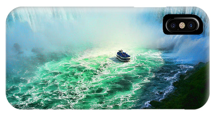 Niagara IPhone X Case featuring the photograph Horseshoe Falls Niagara by Lawrence Christopher