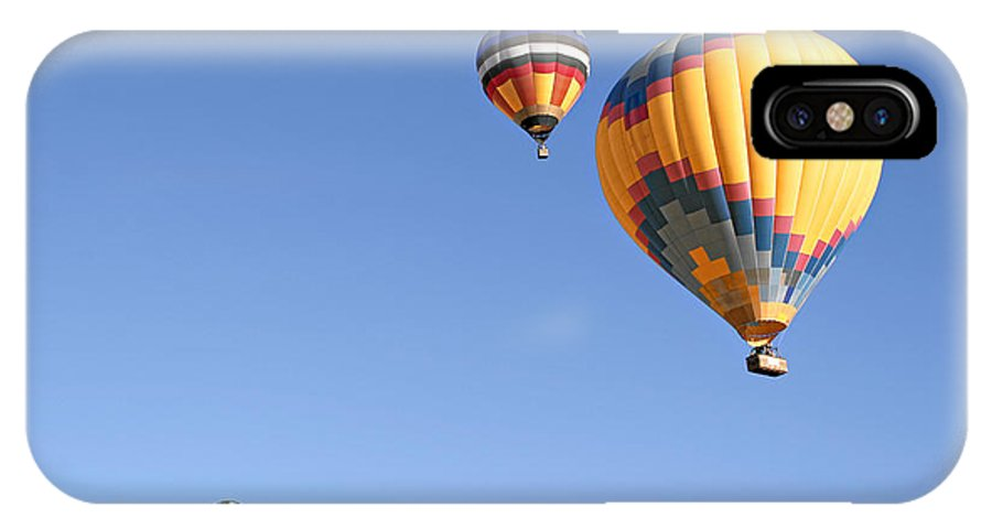 Balloons IPhone X Case featuring the photograph Hot Air Balloon Ride A Special Adventure by Christine Till