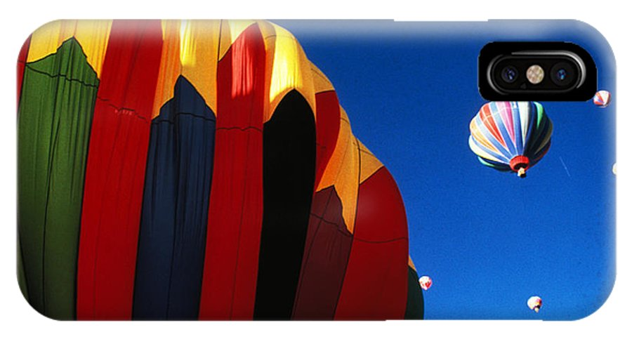 Hot IPhone X Case featuring the photograph Hot Air Goes Up by Carl Purcell