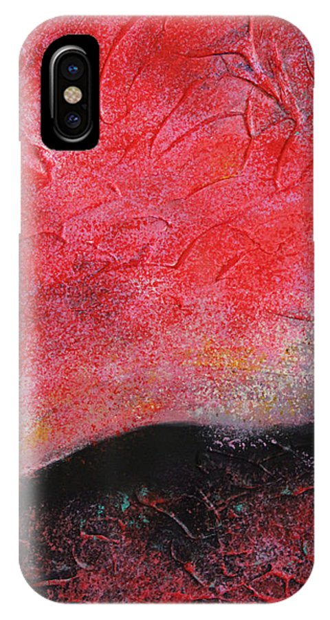 Autumn IPhone X Case featuring the painting Hot Autumn by Tingting Su