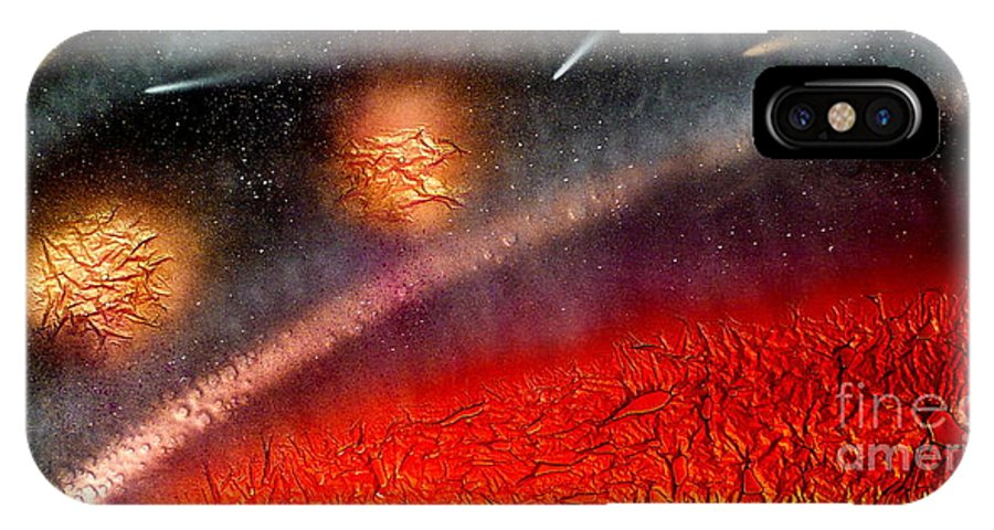 Landscape IPhone Case featuring the painting Hot Space by Rick Silas