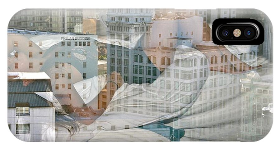 San Francisco IPhone X Case featuring the photograph Hotel Phelan Reflection by Dave Boseman