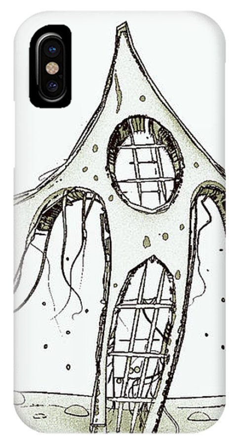 IPhone X Case featuring the digital art House 2 by Iris Ogli