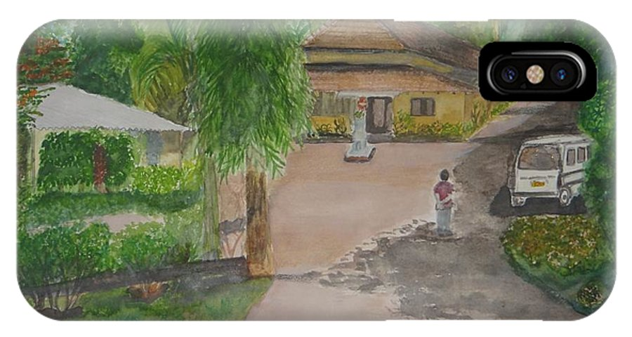 Traditional House In Goa IPhone X / XS Case featuring the painting House In Goa by Saloni Verma