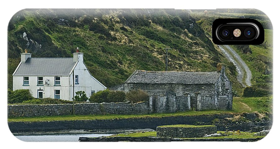 Ireland IPhone X Case featuring the photograph House Near Valencia Island Ireland by Larry Pegram