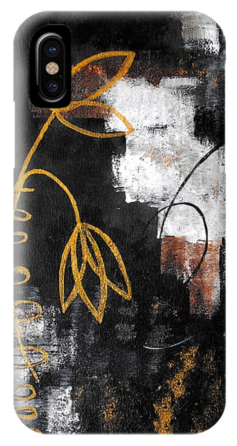 Abstract IPhone X Case featuring the painting House Of Memories by Ruth Palmer