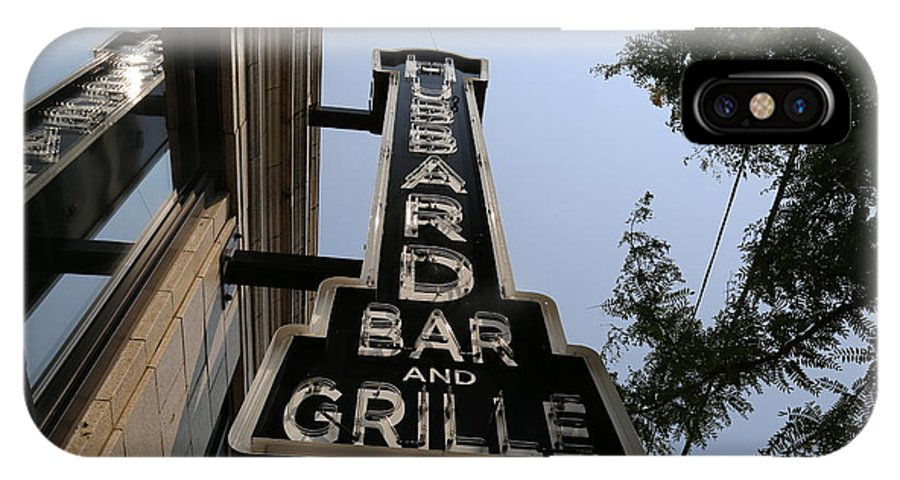 Bar IPhone X Case featuring the photograph Hubbard Bar And Grille Sign by Jeff Roney