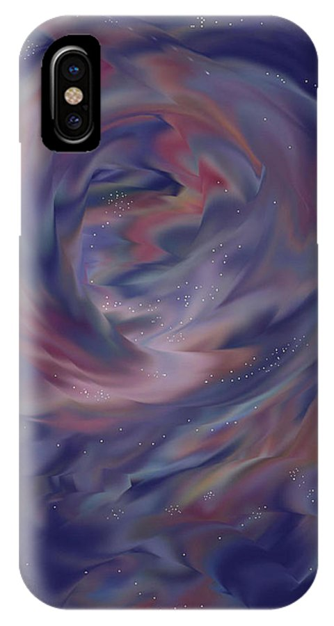 Starscape IPhone X Case featuring the painting Hubble One by Anne Norskog