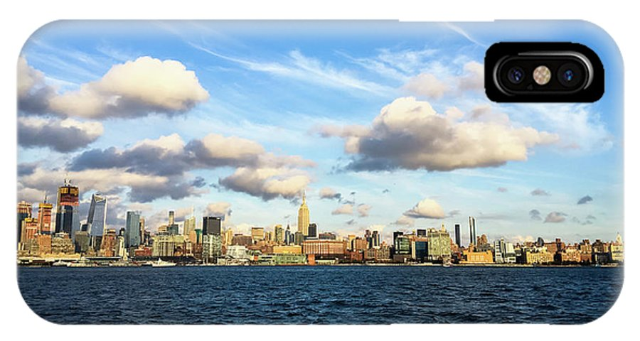 Empire State Building IPhone X Case featuring the photograph Hudson Waterfront by Vartika Singh
