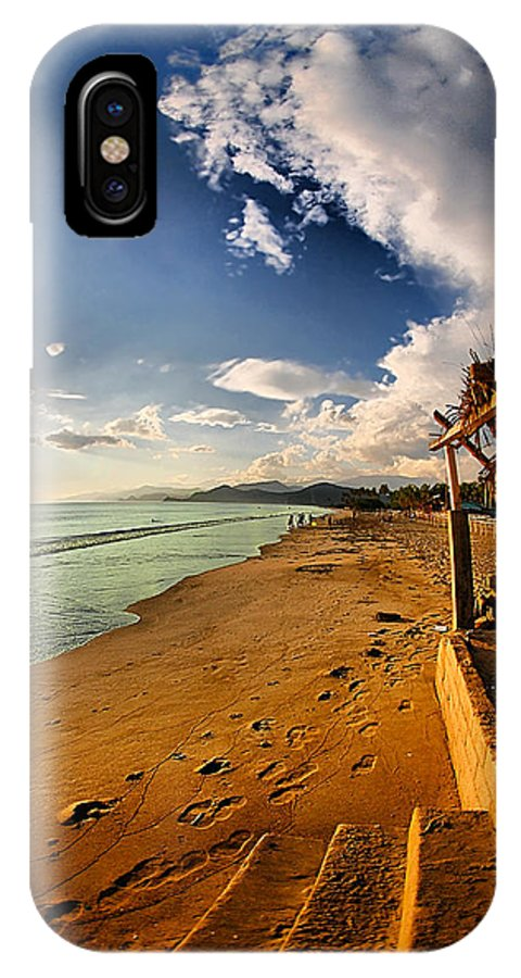Beach IPhone X Case featuring the photograph Huequito Beach by Galeria Trompiz