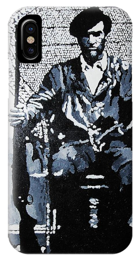 Black Panther IPhone Case featuring the painting Huey Newton Minister Of Defense Black Panther Party by Lauren Luna
