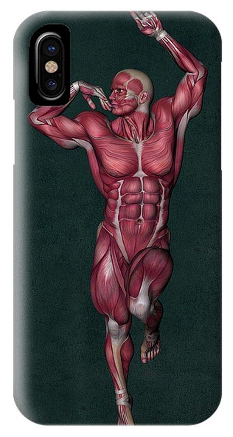 Human Anatomy IPhone X Case featuring the mixed media Human Anatomy 13 by Solomon Barroa