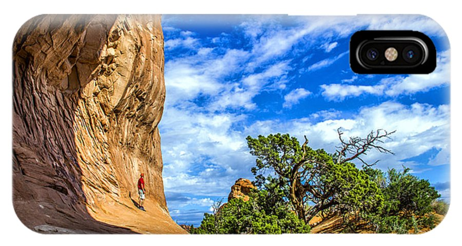 Arches IPhone X Case featuring the photograph Human Insignificance by Roberta Bragan
