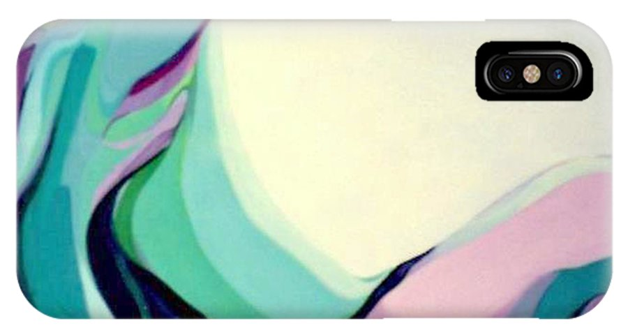 Hummingbird IPhone X Case featuring the painting Hummer One by Marlene Burns