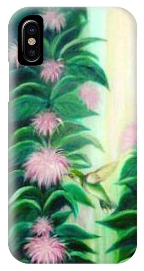 Hummingbird IPhone X Case featuring the painting Hummingbird by Dina Holland