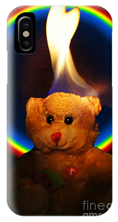 Bear IPhone X Case featuring the photograph Hunk Of Burning Love by Paul Wilford