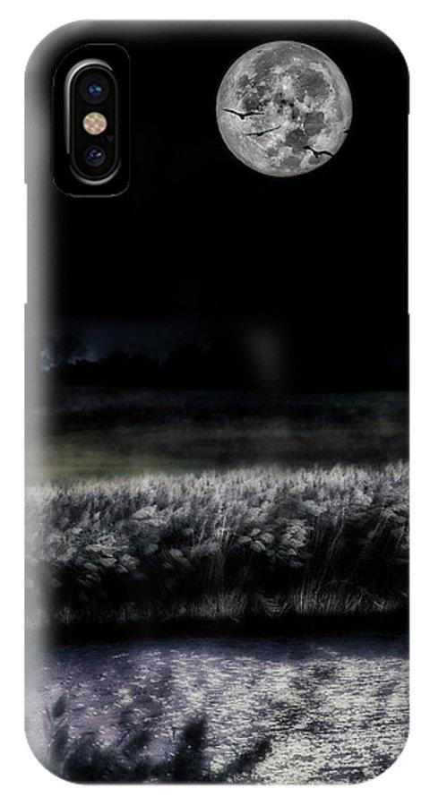 Hunter Moon Photo IPhone X Case featuring the photograph Hunters Moon by Garett Gabriel