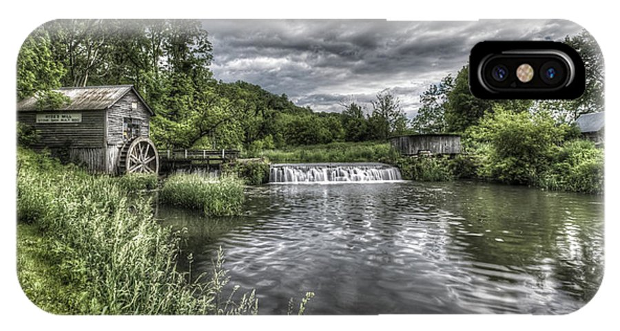 Mill IPhone X Case featuring the photograph Hyde's Mill by Brad Bellisle