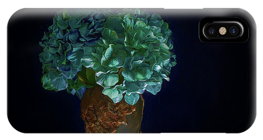 Floral IPhone X Case featuring the photograph Hydrangea by Susan Heath