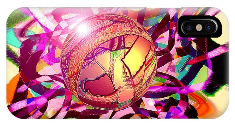 IPhone X Case featuring the digital art Hyperball by Dan Sheldon