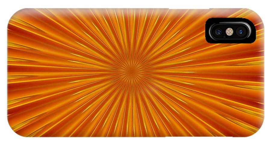 Fractal IPhone X Case featuring the photograph Hypnosis 5 by David Dunham