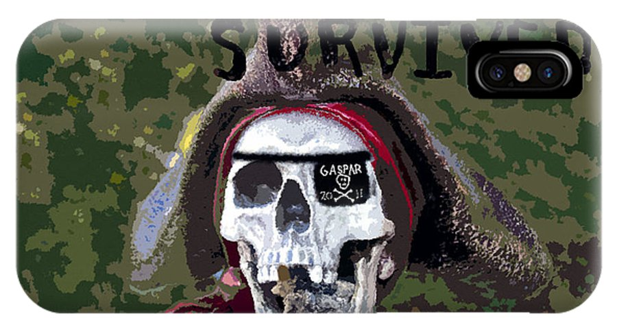 Gasparilla IPhone X Case featuring the painting I Almost Survived by David Lee Thompson