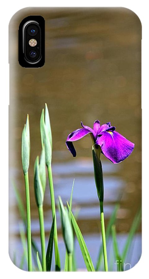 Iris IPhone X Case featuring the photograph I Am First by Yumi Johnson