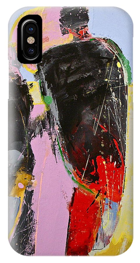 Abstract Painting IPhone X Case featuring the painting I And I And I by Cliff Spohn