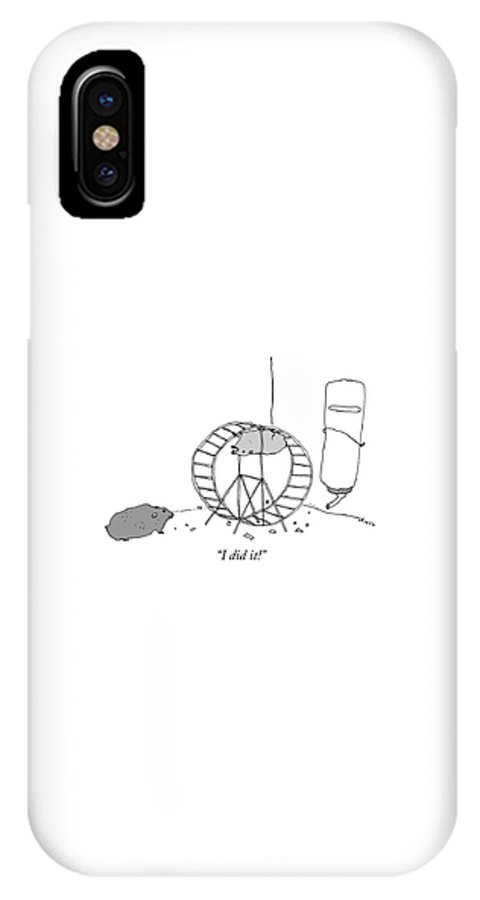 """""""i Did It!"""" IPhone X Case featuring the drawing I Did It by Liana Finck"""
