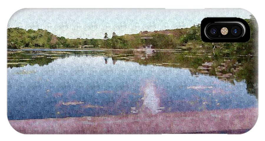 Lake IPhone X Case featuring the mixed media I Dreamed Of A Lake by Stacie Siemsen