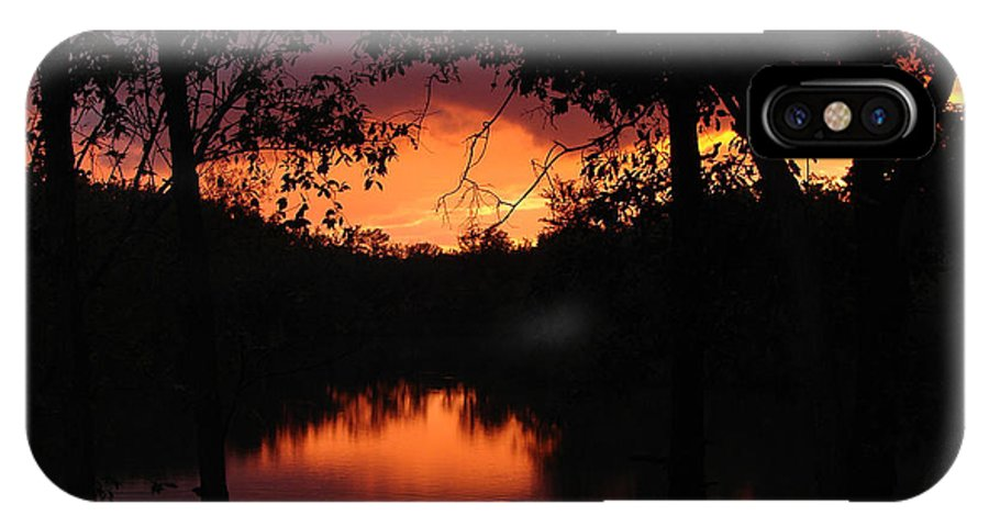 Sunset IPhone Case featuring the photograph I Found Red October by J R Seymour