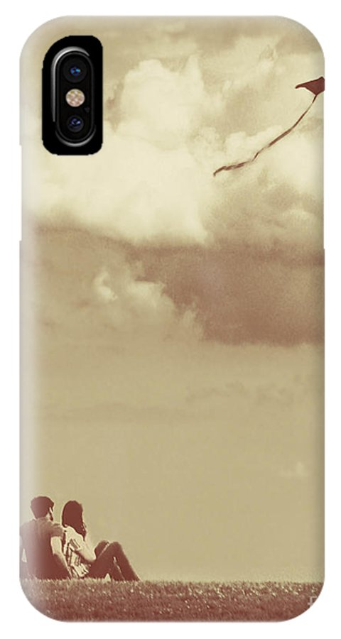 Dipasquale IPhone X Case featuring the photograph I Had A Dream I Could Fly From The Highest Swing by Dana DiPasquale