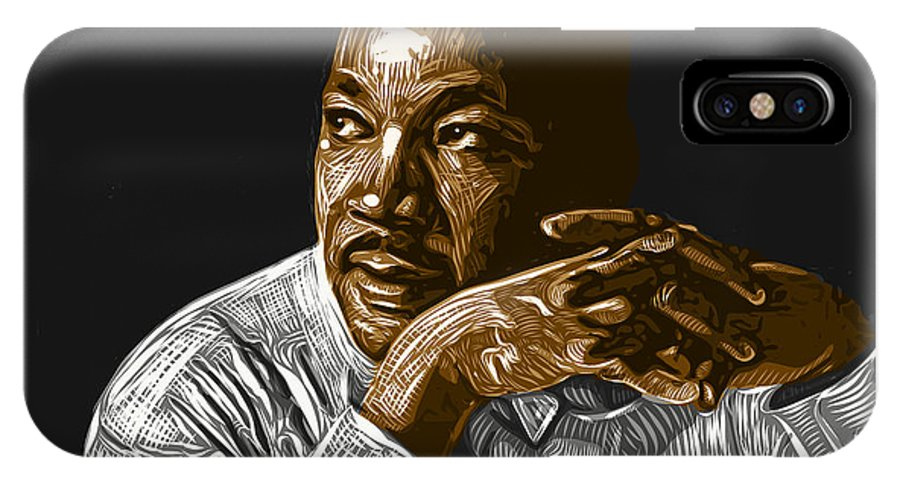 Dr. Martin Luther King Jr. IPhone X Case featuring the digital art I Have A Dream . . . by Antonio Romero