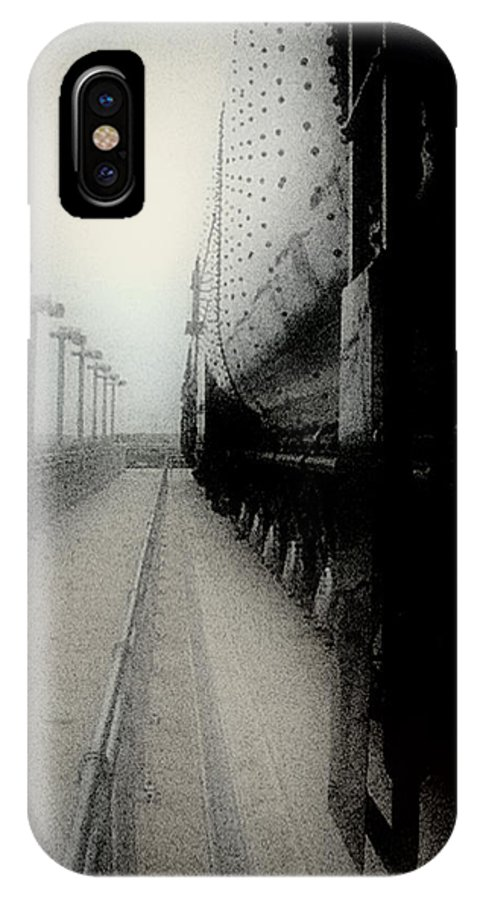 Train IPhone X Case featuring the digital art I Hear That Lonesome Whistle Blow by RC DeWinter
