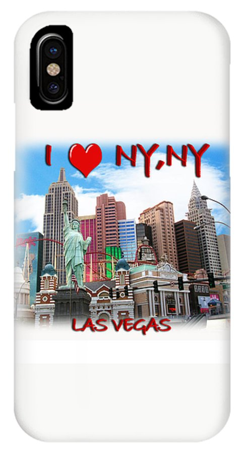 Las Vegas IPhone X Case featuring the photograph I Love Ny Ny by Gravityx9 Designs