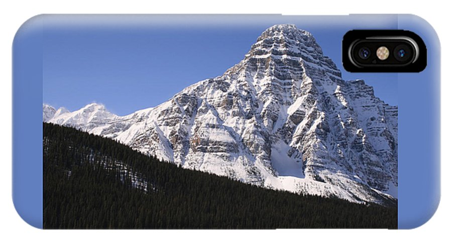 Rocky Mountains IPhone X Case featuring the photograph I Love the Mountains of Banff National Park by Tiffany Vest