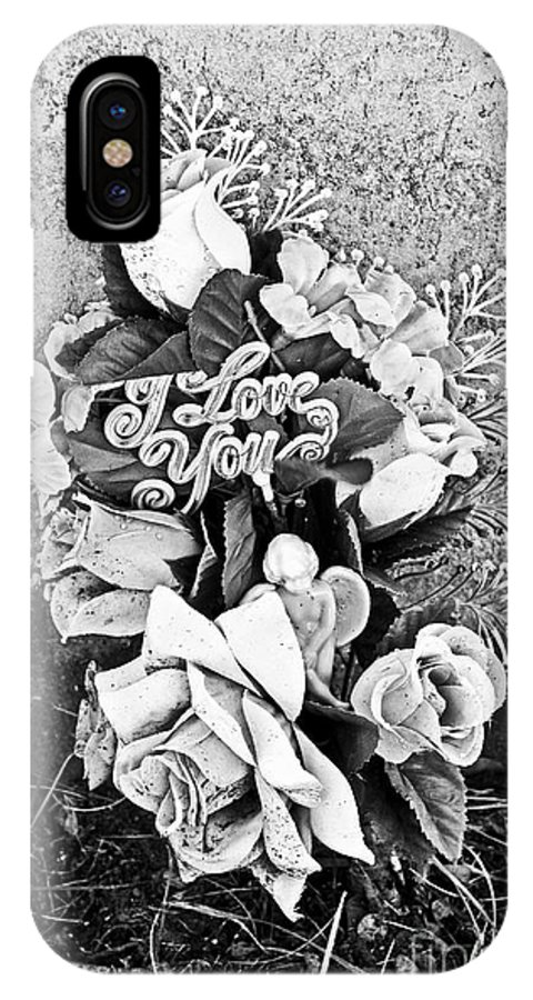 Grave IPhone X Case featuring the photograph I Love You by Valerie Fuqua