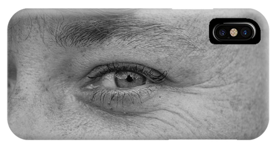 Black And White IPhone Case featuring the photograph I See You by Rob Hans