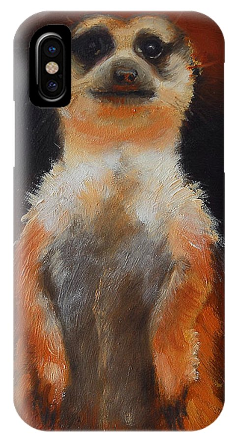 Oil IPhone X Case featuring the painting I See You Too by Greg Neal
