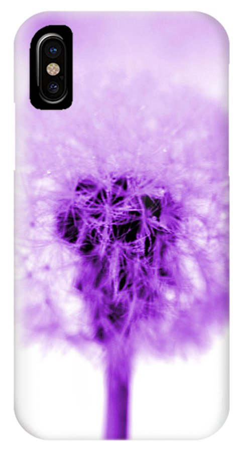 Purple IPhone X Case featuring the photograph I Wish In Purple by Valerie Fuqua