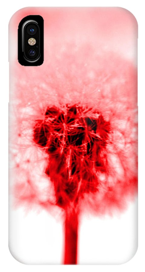 Dandelion IPhone X Case featuring the photograph I Wish In Red by Valerie Fuqua