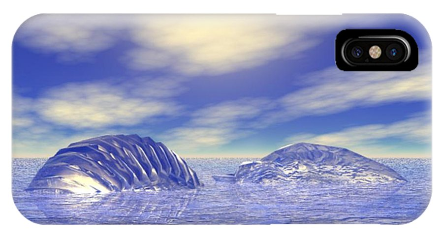 Digital IPhone X Case featuring the digital art Ice Caps by Gina Lee Manley