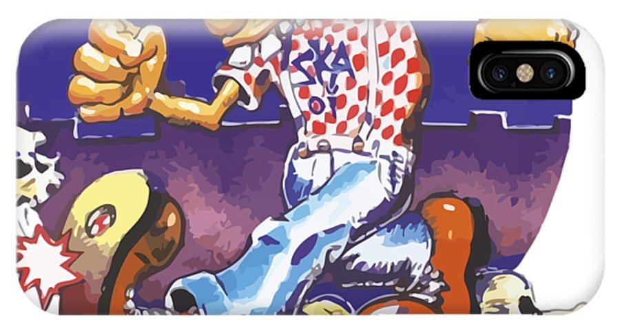 Grateful Dead IPhone X Case featuring the digital art Ice Cream Kid Ska by Ik