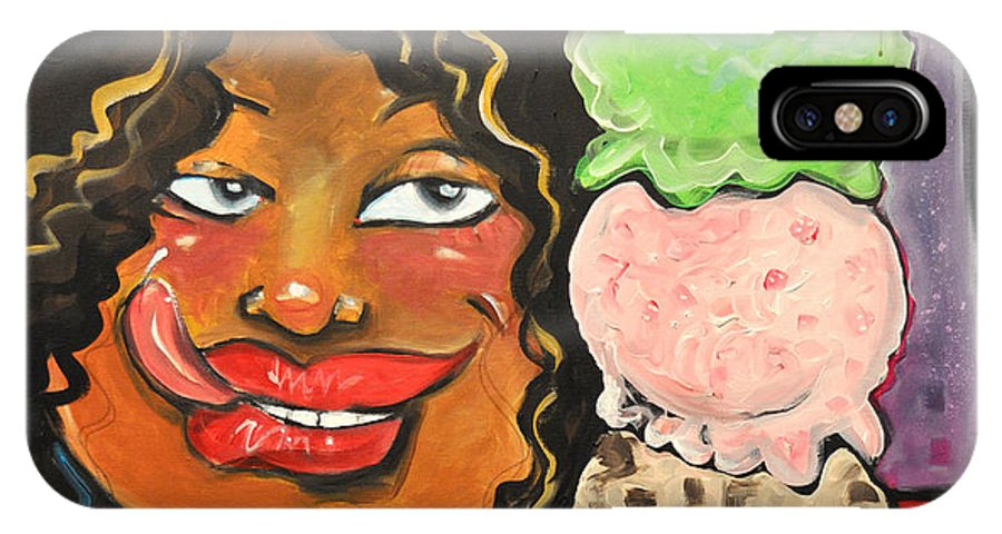 Ice Cream IPhone X Case featuring the painting Ice Cream by Tim Nyberg