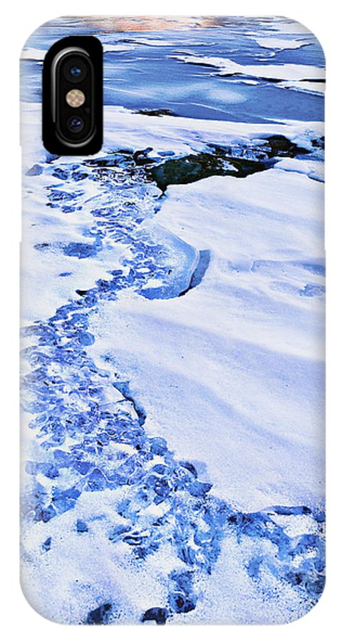 Mt. Hood IPhone X Case featuring the photograph Ice Cube Creek by John Christopher